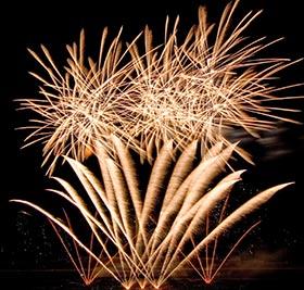 Foto des Feuerwerks Rhein in Flammen
