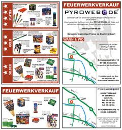 Flyer und Handzettel zur Bewerbung Ihres Feuerwerkverkaufs