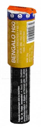 Bengalo H50 gelb NC - kalte Pyrotechnik*