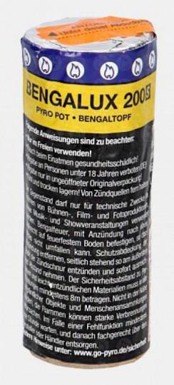 Bengalux 200S - Rauch- Bengaltopf / Pyropot - gelb