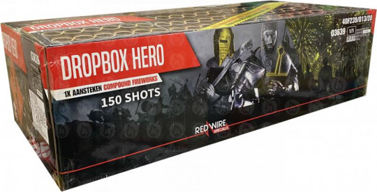 Dropbox Hero, 150-Schuss-Verbundfeuerwerk