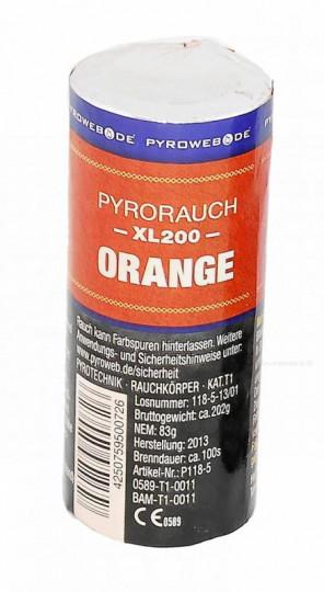 Großer Rauchtopf - Pyrorauch XL200, ORANGE