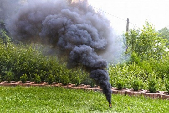 Großer Rauchtopf - Pyrorauch XL200, SCHWARZ