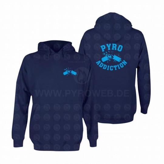Hooded Sweat Navy: Pyro Addiction
