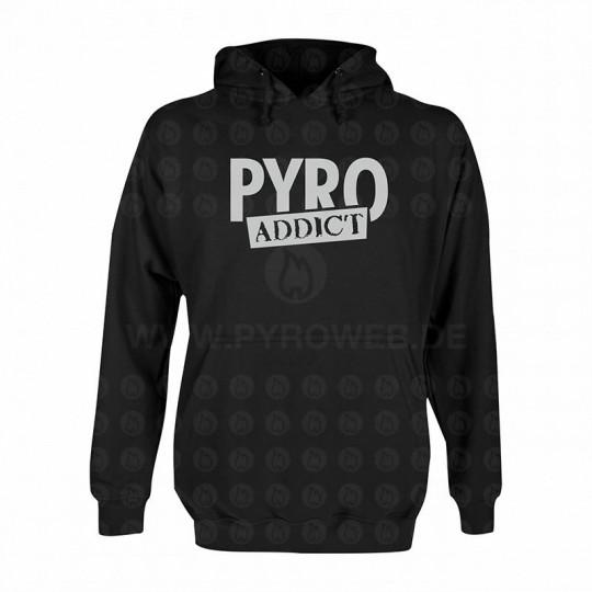 Hooded Sweat Schwarz: Pyro Addict