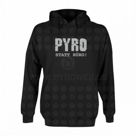 Hooded Sweat Schwarz: Pyro statt Büro
