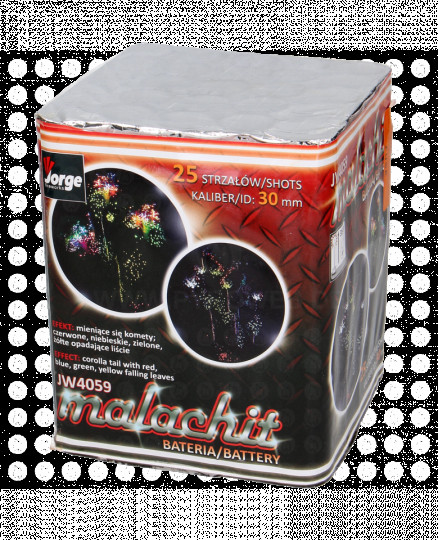 Malachit, 25-Schuss-Batterie