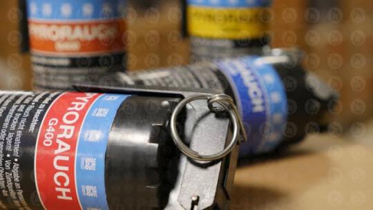 Pyrorauch G400 mit Kipphebelzündung, blau