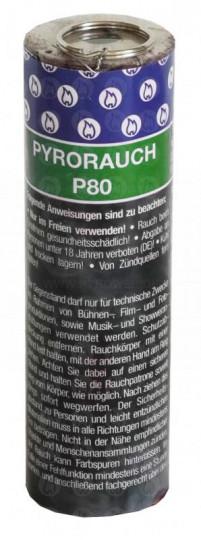 Pyrorauch P80 grün, Reißzündung