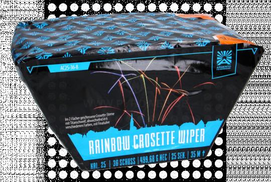 Rainbow Crosette Wiper, 36-Schuss-Fächerbatterie