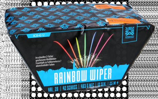 Rainbow Wiper, 42-Schuss-Fächerbatterie