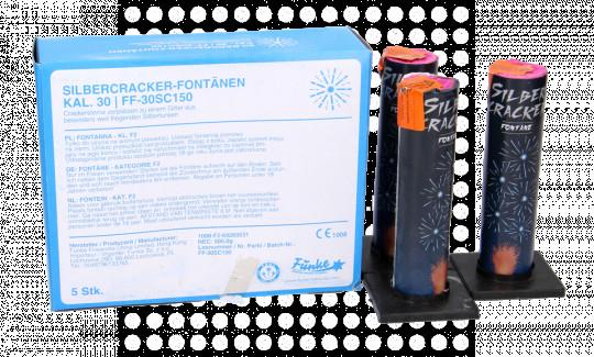 Silbercracker Fontäne - 5er Schachtel