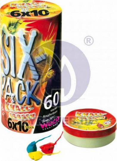 SIX- Pack Knallerbsen - 60 Stück
