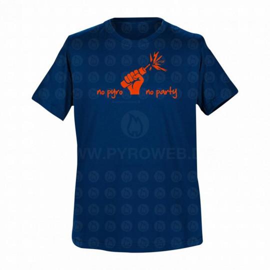 T-Shirt Navy: No pyro no party