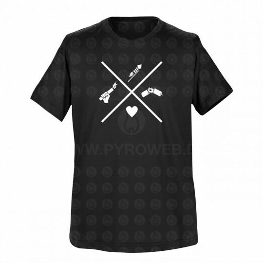 T-Shirt Schwarz: Pyro-Icons