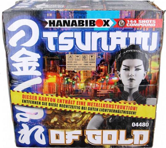 Tsunami Of Gold, 144-Schuss-Verbundfeuerwerk