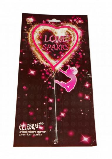 Wunderkerze Herz - Love Sparks