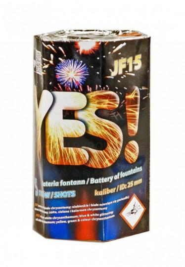 Yes, 5 Schuss Fontänen-Batterie